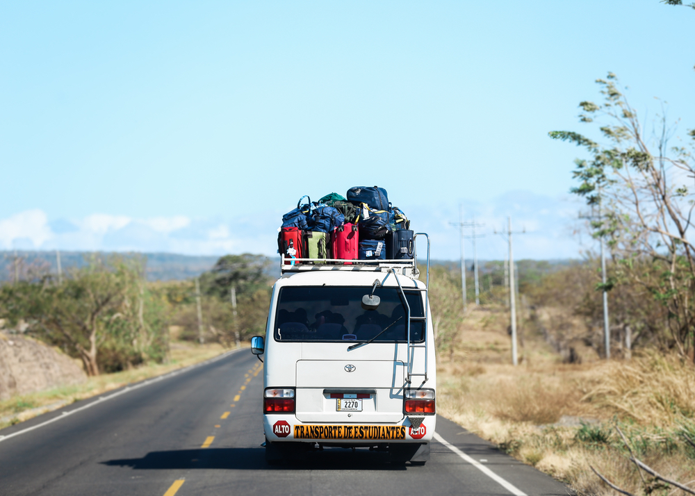 Traveling students and staff van ride in Nicaragua Filter of Hope