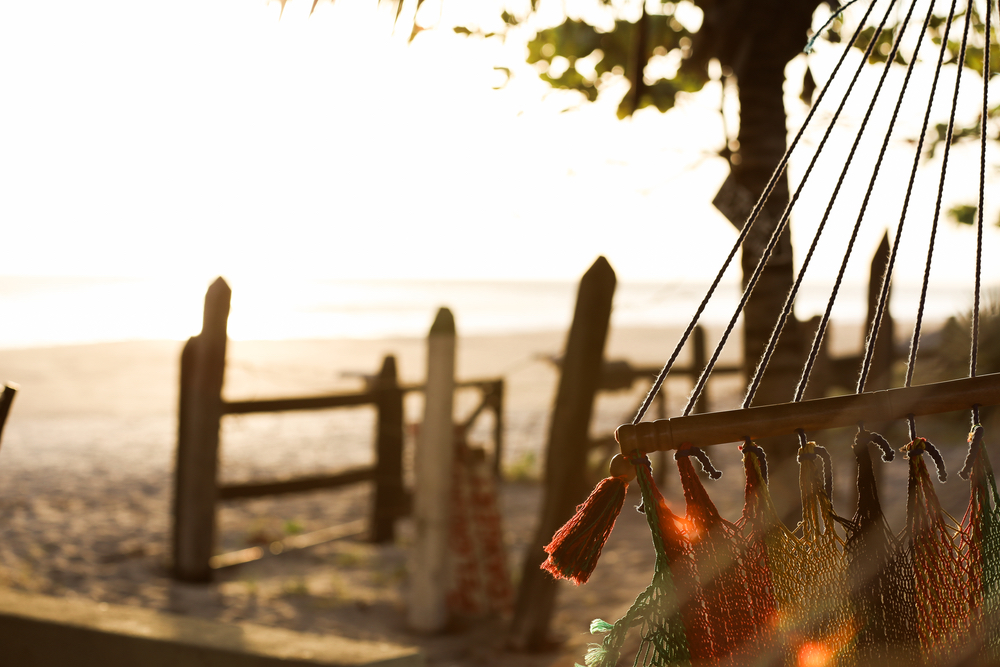 Beautiful Nicaraguan scenery hammock by the sea Filter of Hope