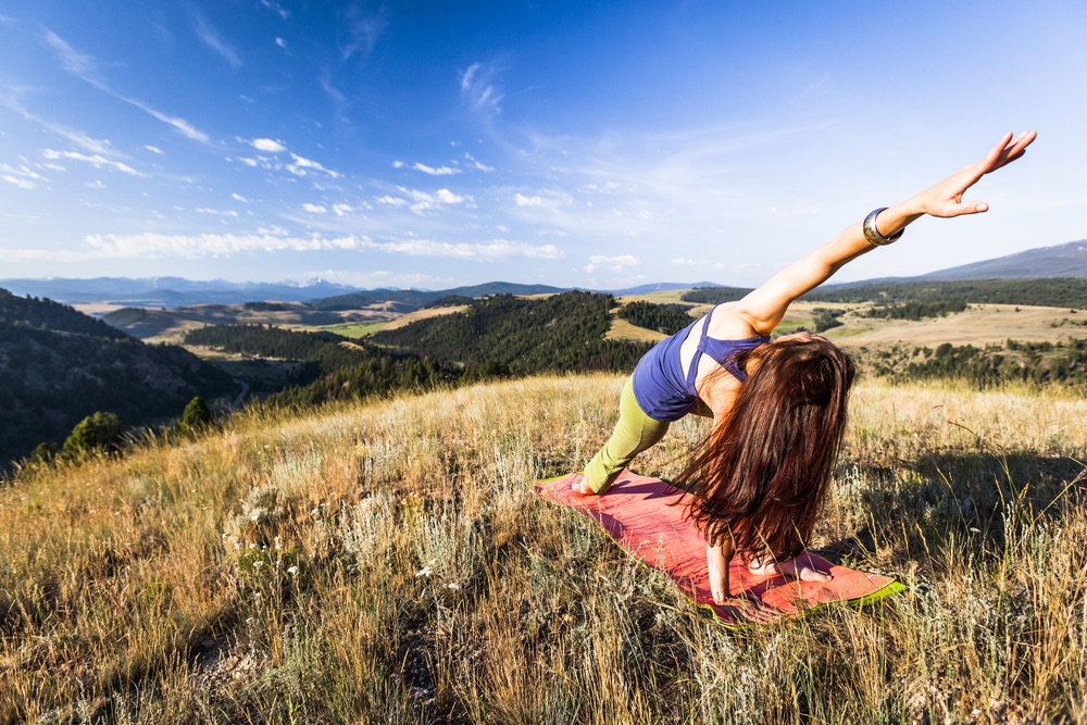 Outdoor yoga at The Ranch at Rock Creek