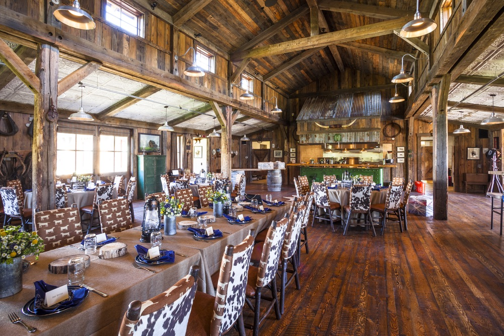 Western dining theme at The Ranch at Rock Creek
