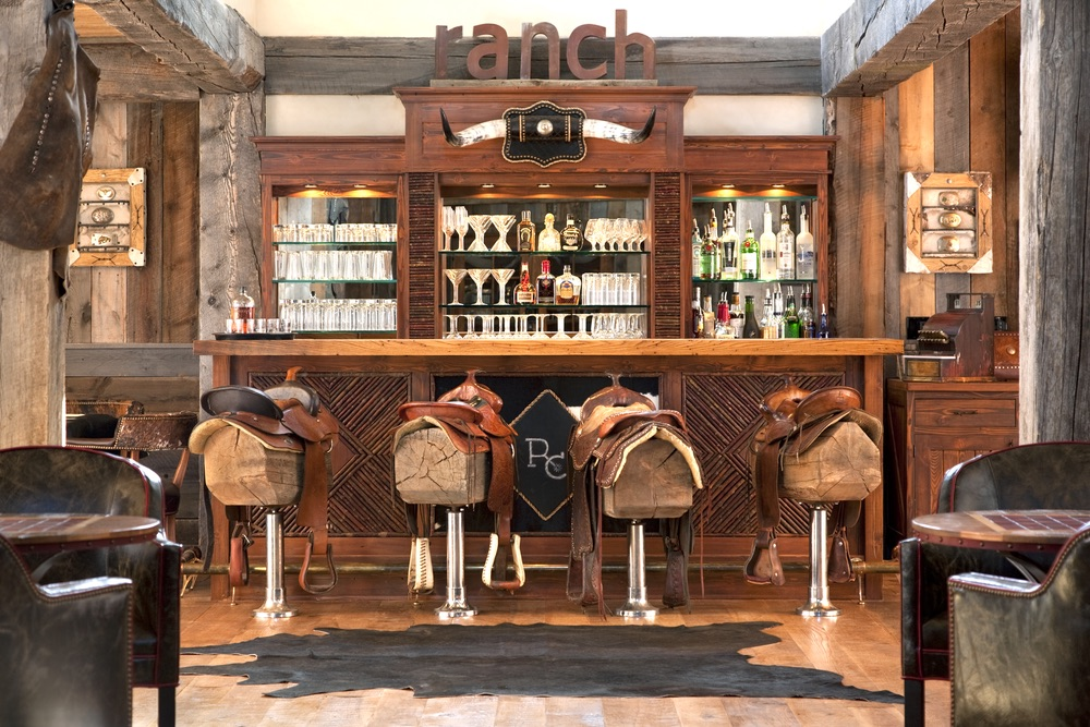 Western themed bar at The Ranch at Rock Creek