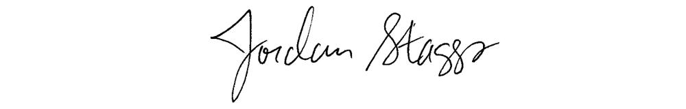 Jordan Staggs, Managing Editor, signature