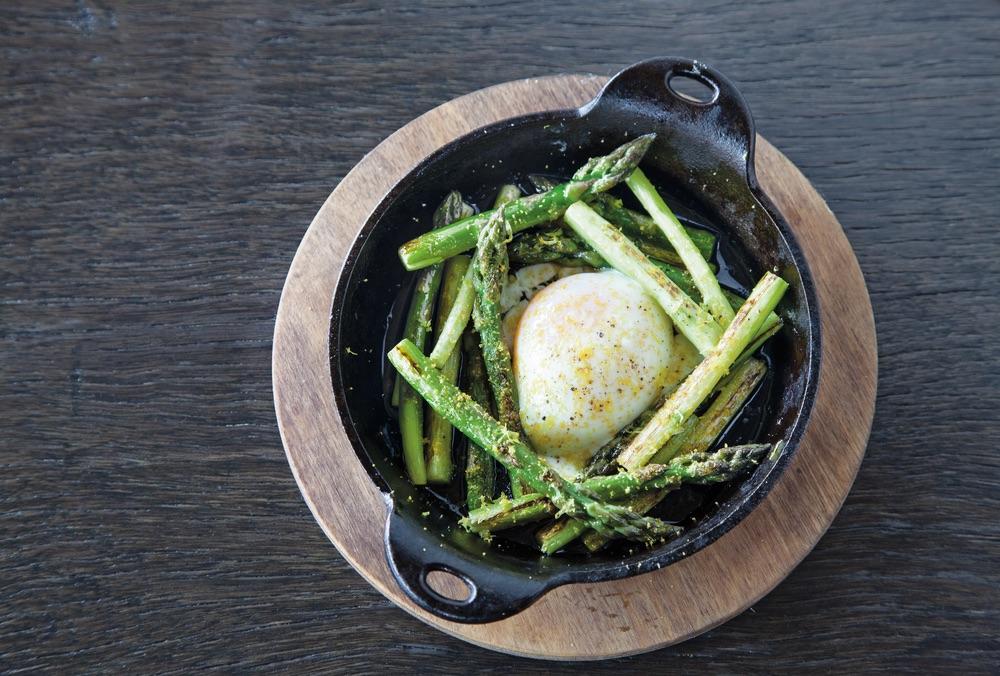 The 404 Kitchen Asparagus with egg dish Nashville Tennessee VIE Magazine 2017 Top Ten