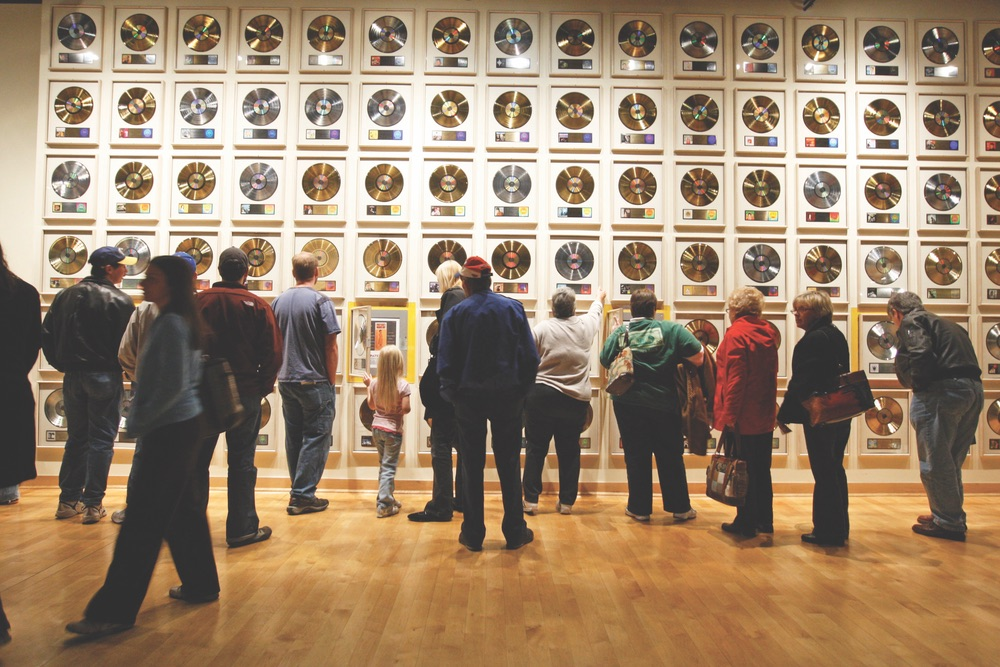 Country Music Hall of Fame on Fifth Avenue Nashville Tennesee wall of records VIE 2017