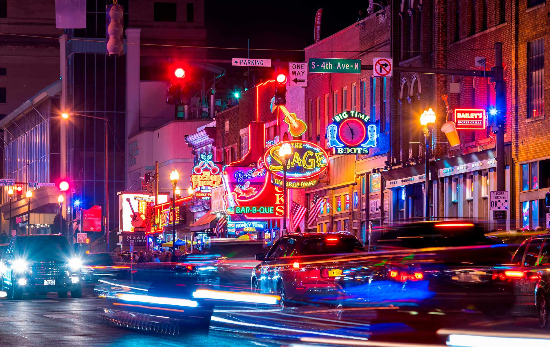 City night life in Nashville Tennessee Nashville is where it's at hot spot travel feature