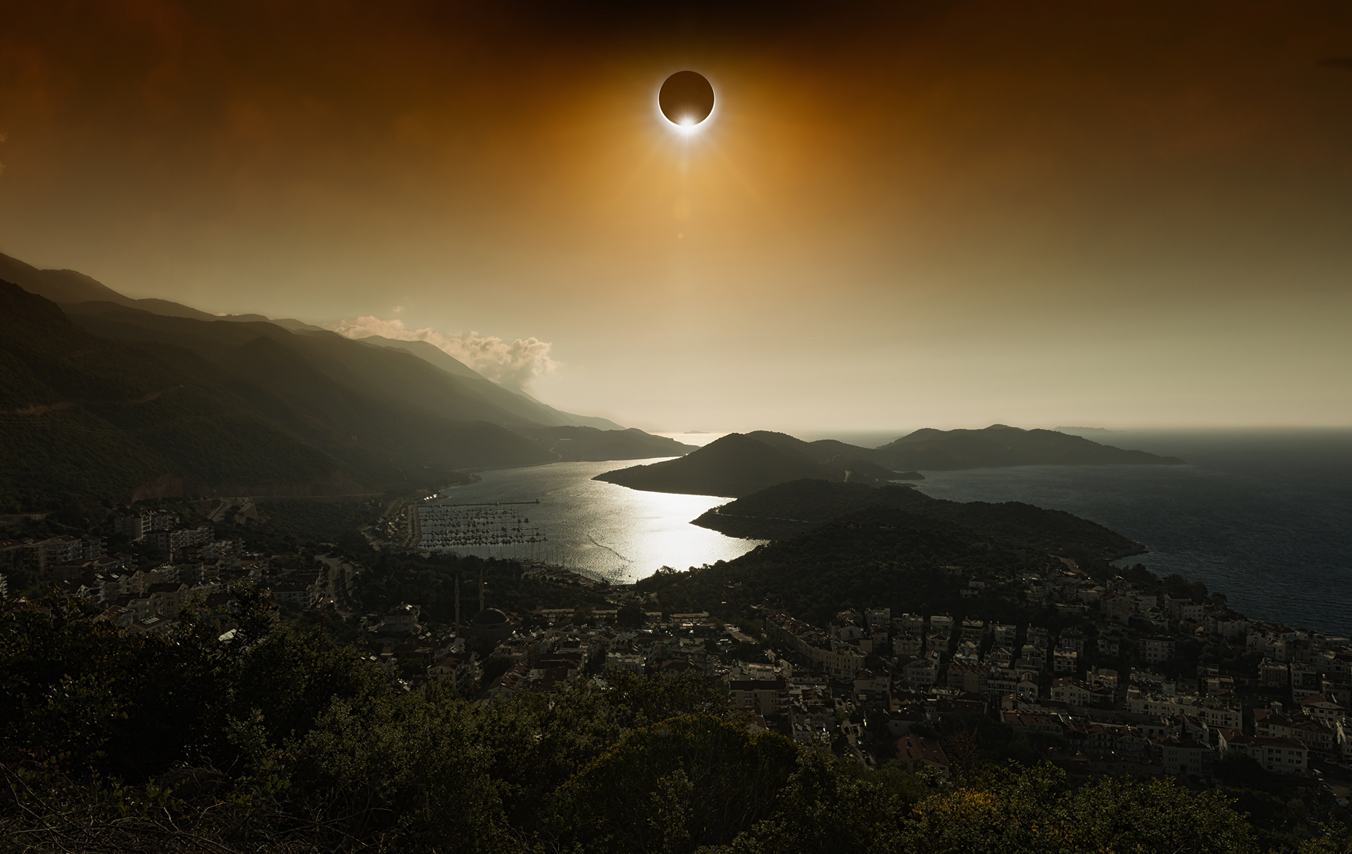 Total Solar Eclipse over waterview