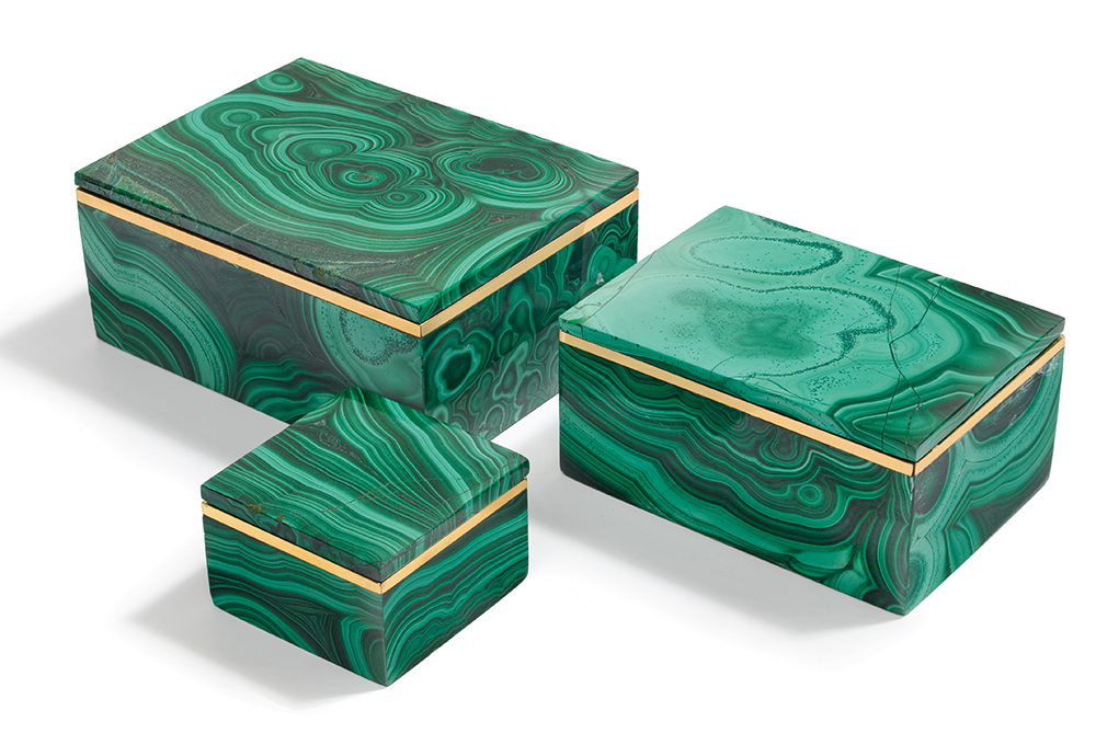 Andu Malachite Boxes, cest la vie, curated collection, crowning jewels