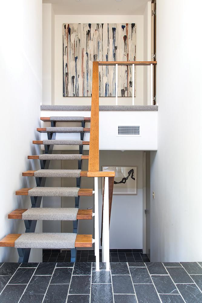 ledbetter home, stairwell