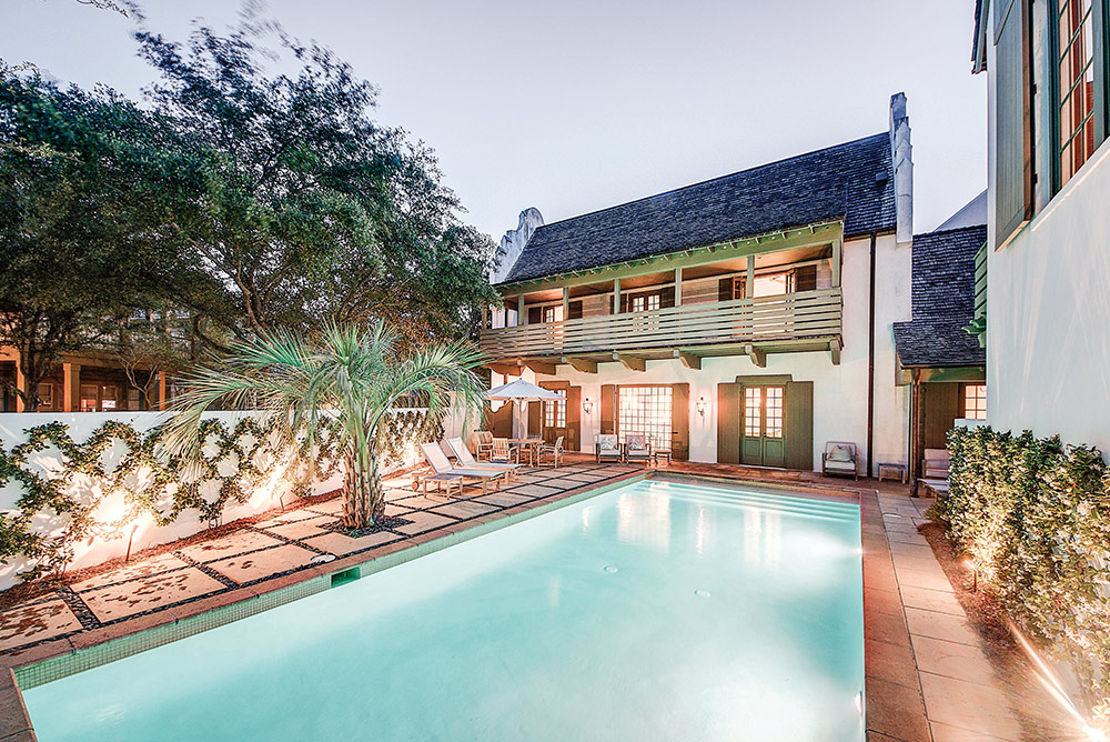 Beautiful pool setting in a luxurious home on 30a linda miller real estate