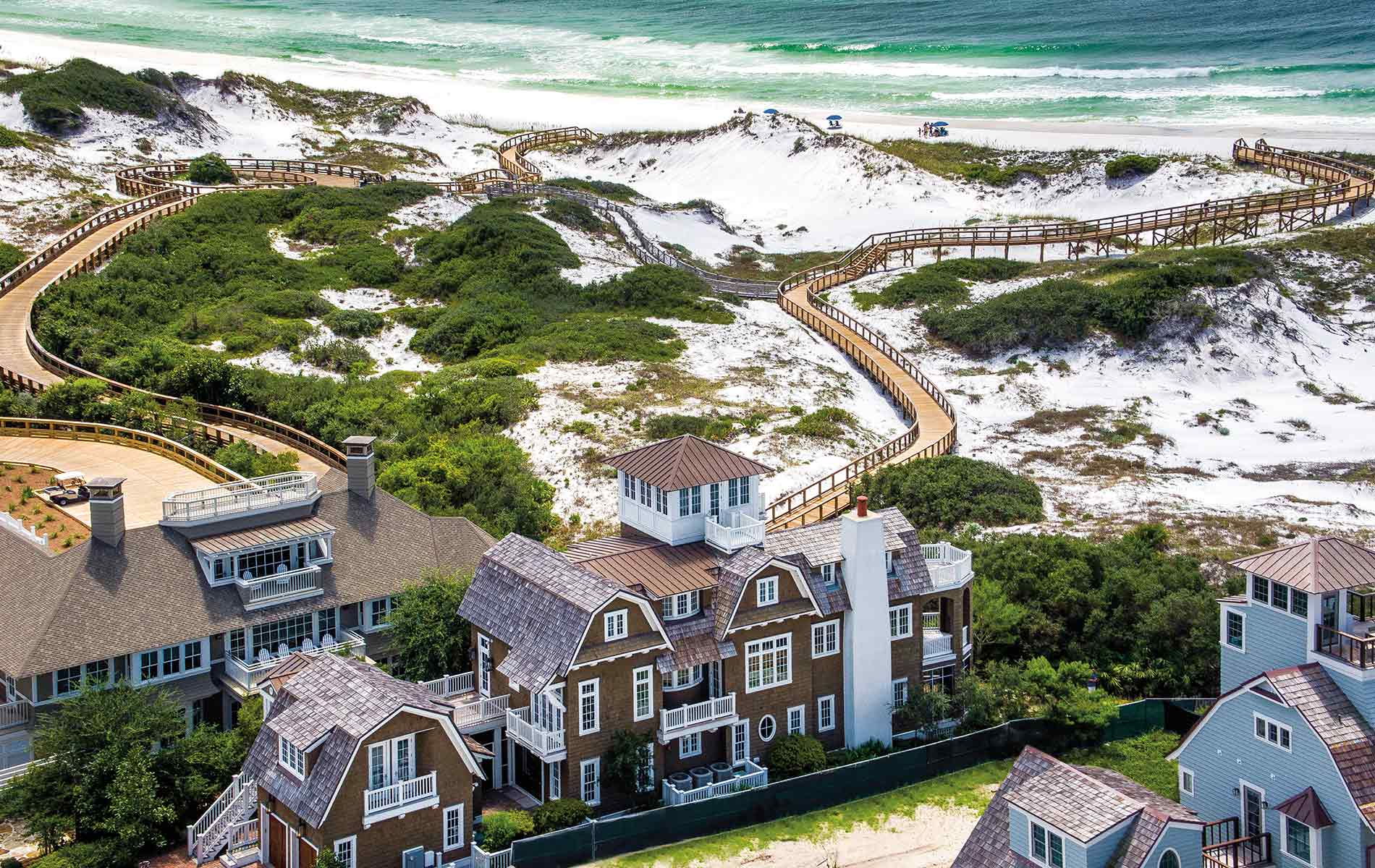 Beautiful aerial shot of Santa Rosa Beach, Florida Linda Miller Luxury Real Estate home and garden 2017