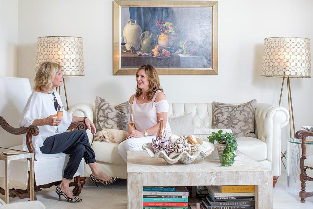 Design Associate Alden Lagasse, wife of Emeril Lagasse, and Principal Designer Susan Lovelace