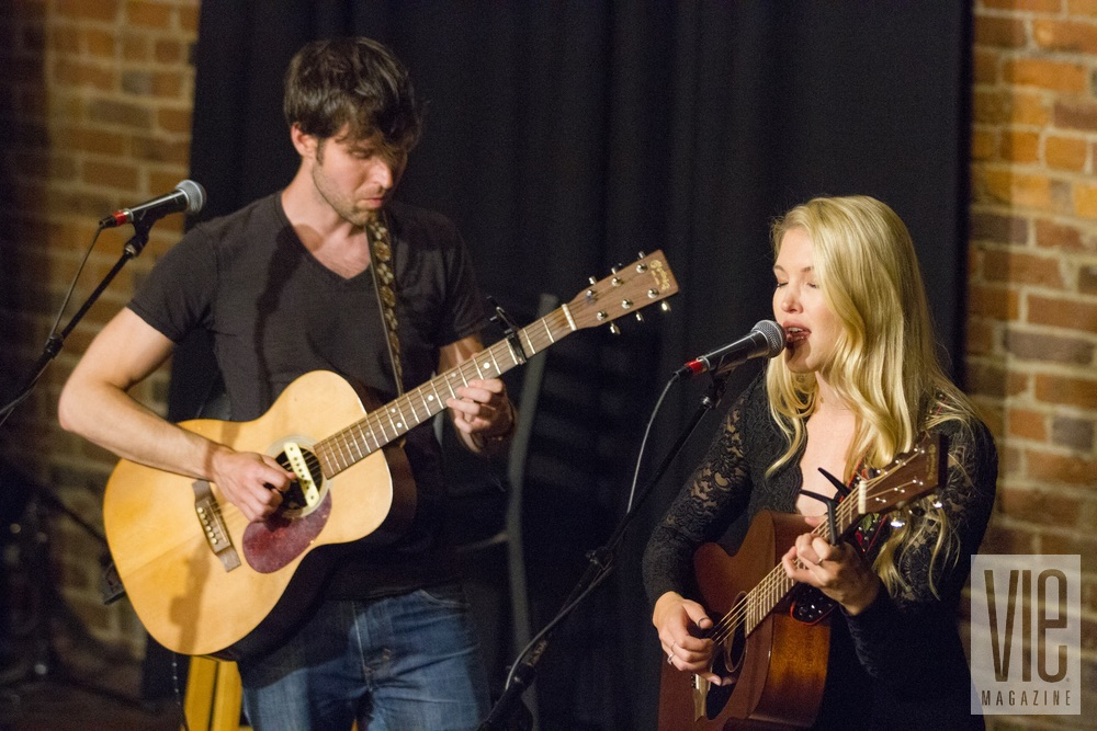 Shannon and Ashley Campbell performing at VIE Magazine's