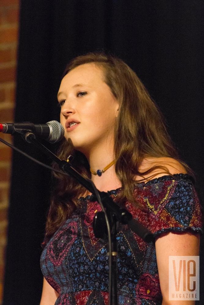 Emma Crowley performing at VIE Magazine's