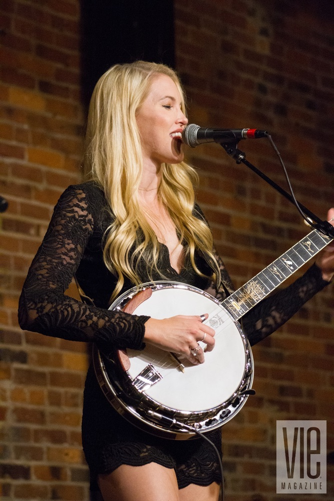 Ashley Campbell performing at VIE Magazine's