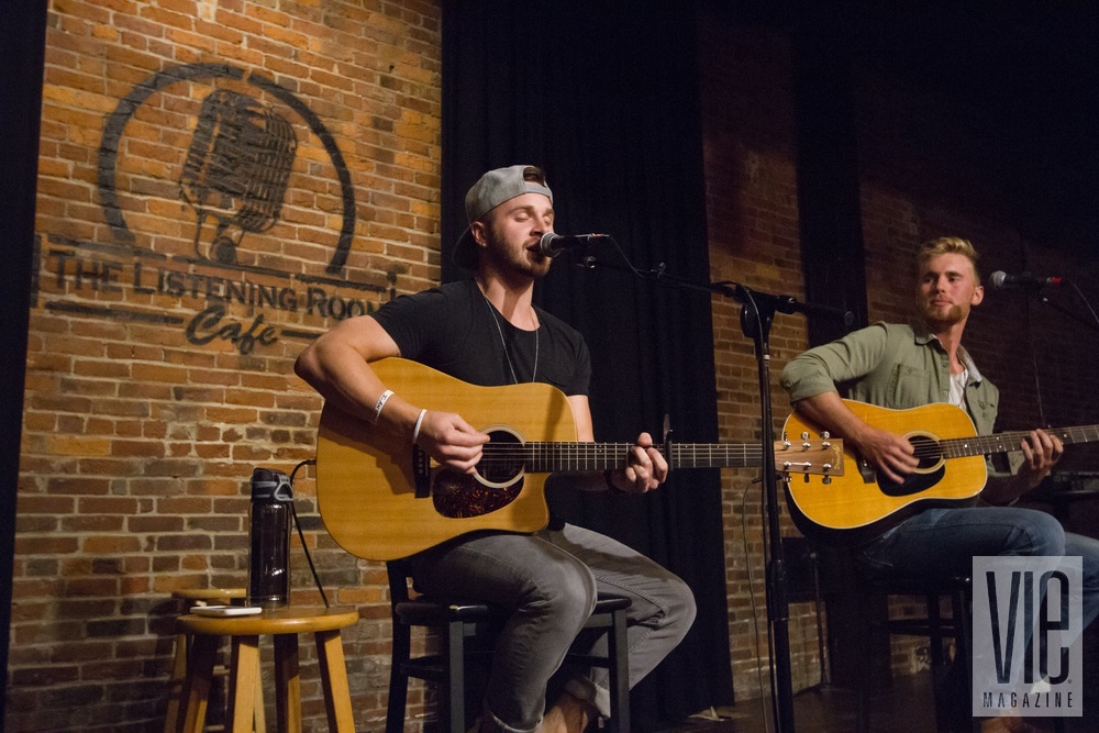 Will Bundy and Stephen Ellrod performing at VIE Magazine's