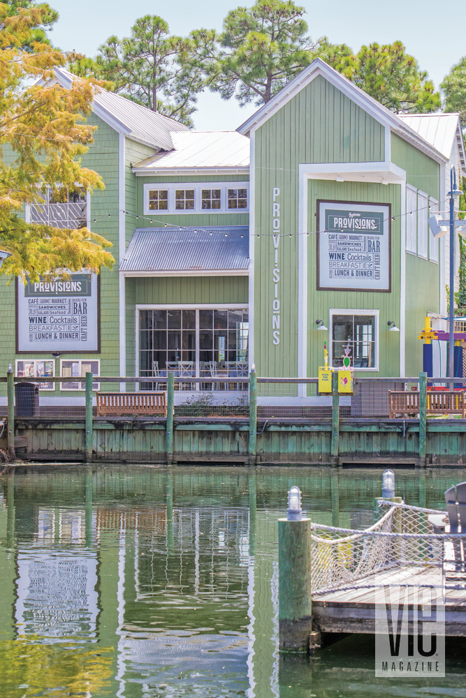 Baytowne Provisions has a gorgeous view settled in between Grand Lagoon and the Choctawhatchee Bay