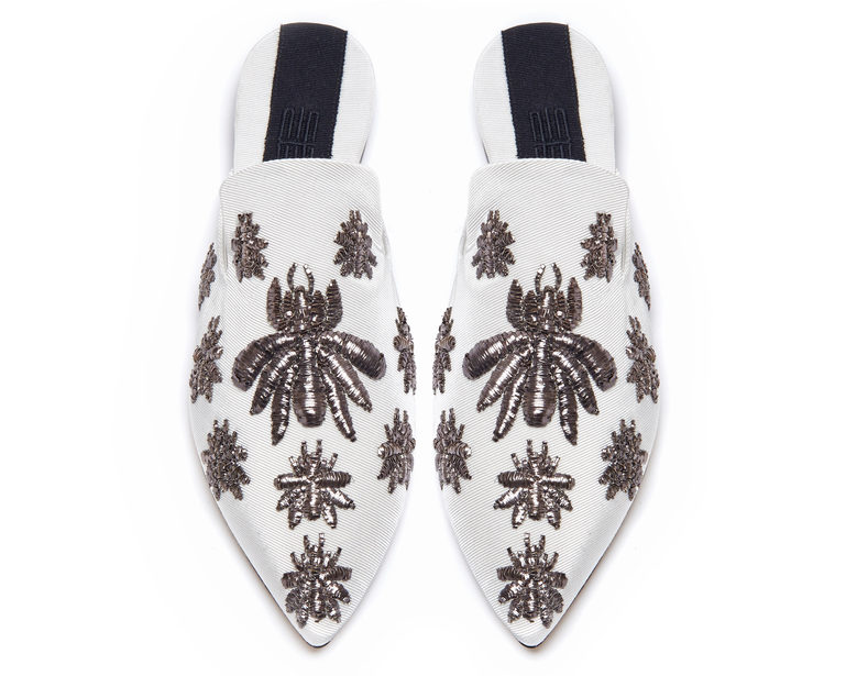 Multi Ragno Slippers Gorgeous white slippers with bee accents cest la vie november 2017