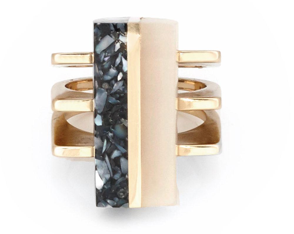 Momentum Ring in Musk modern gemstones C'est la VIE November 2017