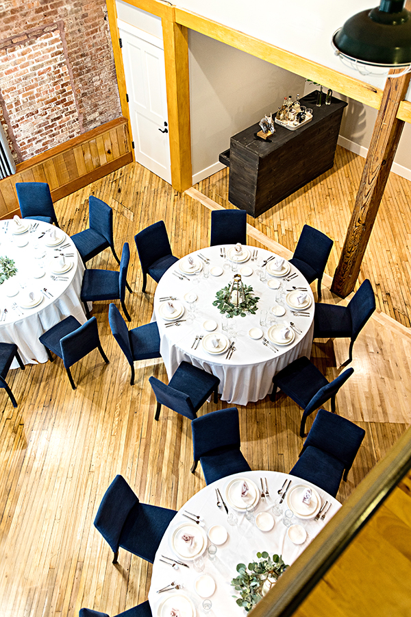 Dining space at The Restoration Hotel in Charleston, North Carolina