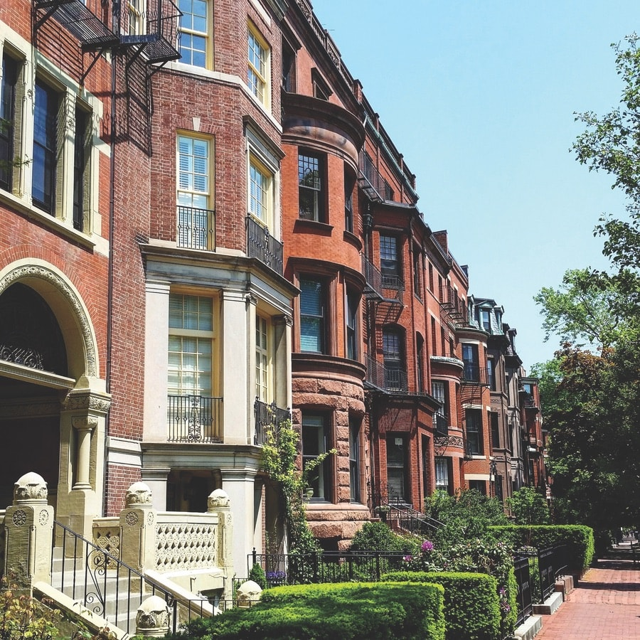 Brownstones in the Back Bay Neighborhood in Boston. The Sophisticate Issue 2017, VIE Magazine