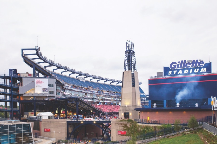 The Gillette Stadium. VIE Magazine. The Sophisticate Issue
