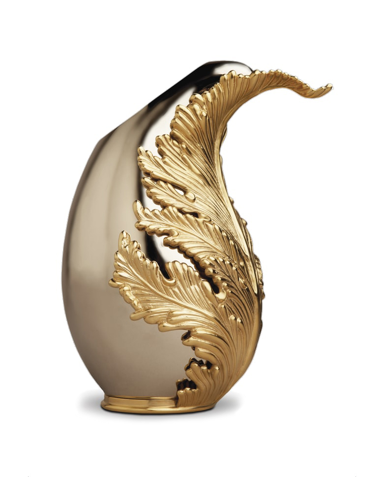 Leaf It to Me Lamina Vase gorgeous gold intricate Vase by L-Objet Sophisticate 2017