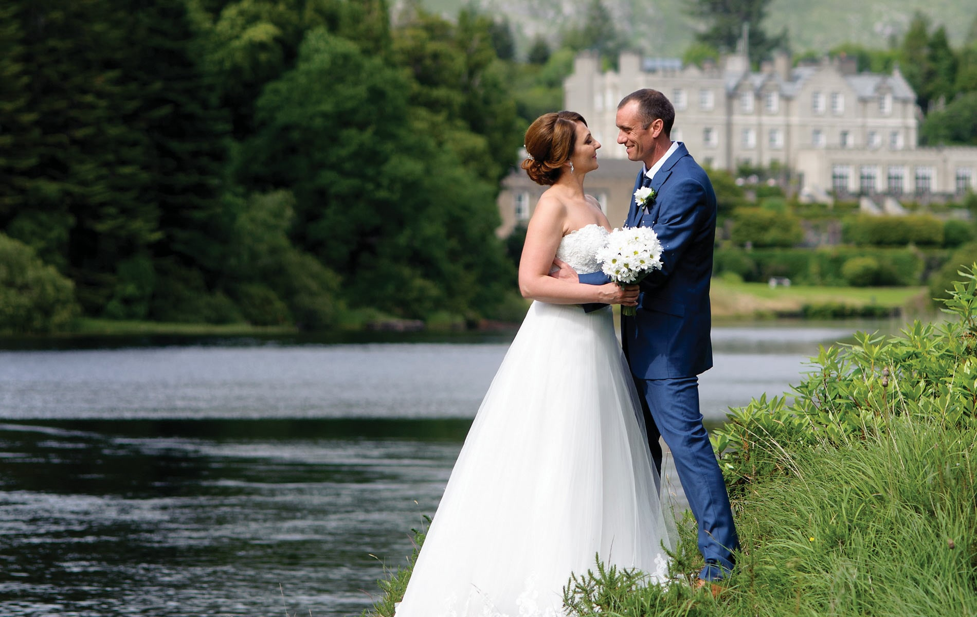 Monika Malinowska and Peter Buffam Ballynahinch Castle Aoife Herriott Photography