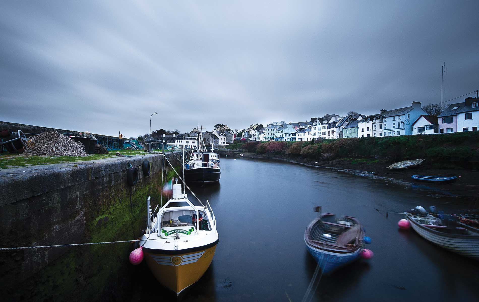Connemara Life, Roundstone, harbor, boats