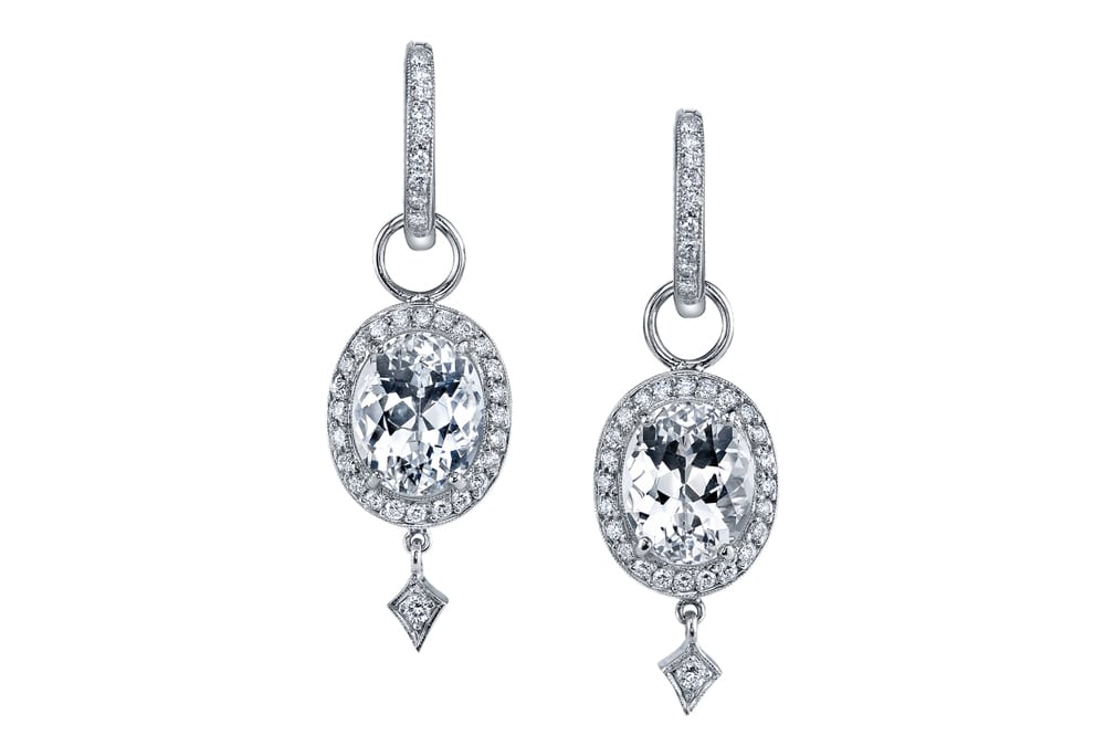 Gorgeous diamond earrings by the incredibly talented Erica Courtney McCaskill & Co.