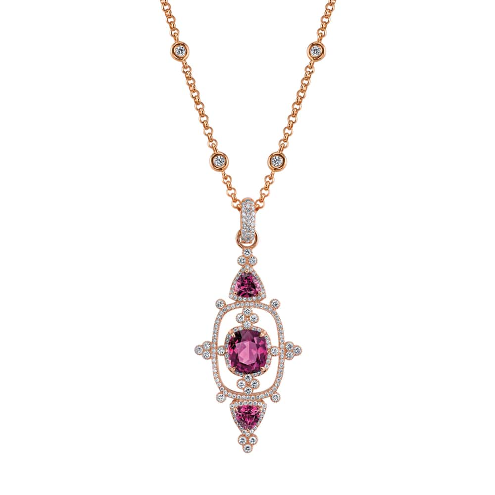 Interstellar Pendant in Purple Garnet by Erica Courtney Drop Dead Gorgeous Collection