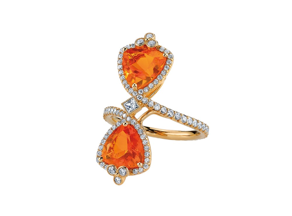 Toi et moi in fire opal by Erica Courtney Drop Dead Gorgeous Collection