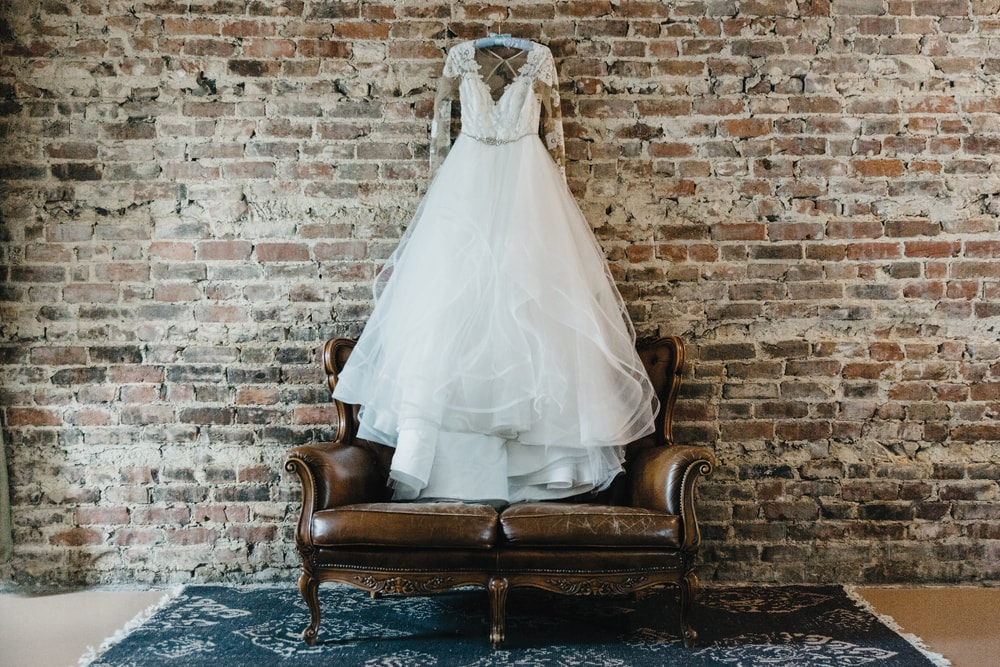 Gorgeous wedding gown custom designed creation by Hayley Paige