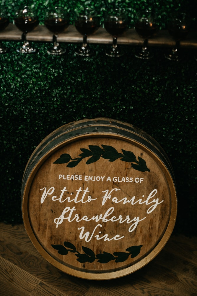 Wine by the Petitto family at Sarah Elizabeth and Phillip Petitto's wedding New Orleans Wedding