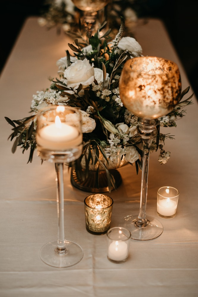Tablescape details at Sarah Elizabeth and Phillip's New Orleans wedding