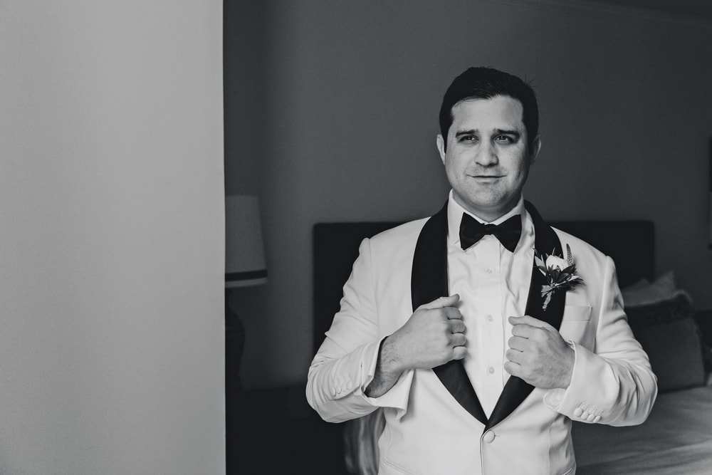 The groom Phillip Petitto getting ready for the big New Orleans wedding
