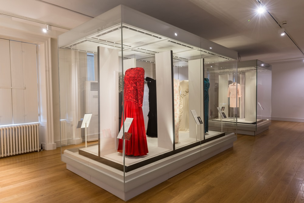 Selections from the Diana: Her Fashion Story exhibition at Kensington Palace
