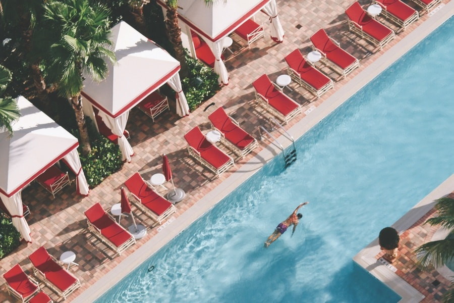 A pool at Acqualina Resort. VIE Magazine January 2018