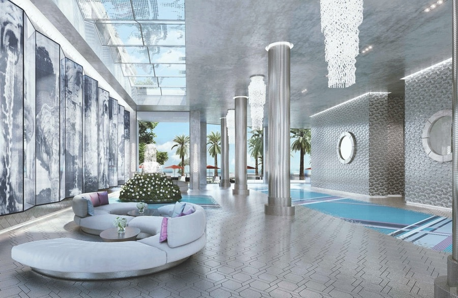 Lobby Design by Karl Lagerfeld. VIE Magazine 2018