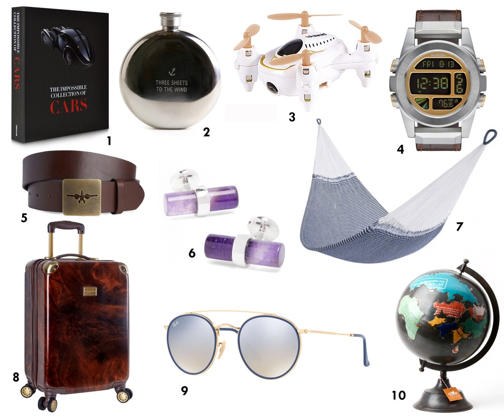 cest la vie holiday gift guide, Brookstone, RayBan, Brooks Brothers, Vineyard Vines, best gifts of 2017