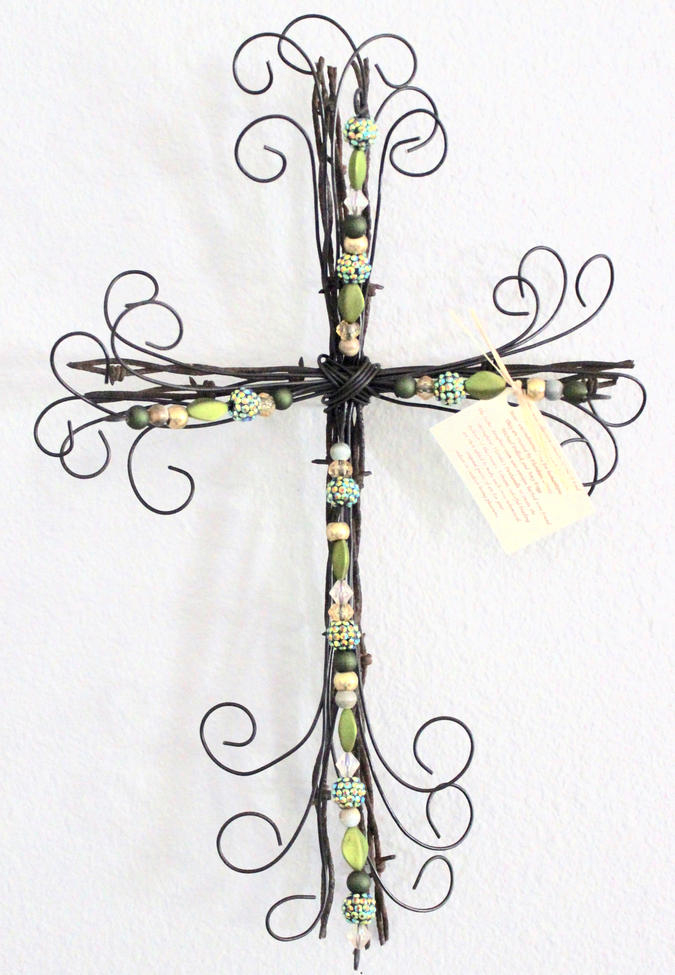 Gorgeous cross art by Amy Fogg