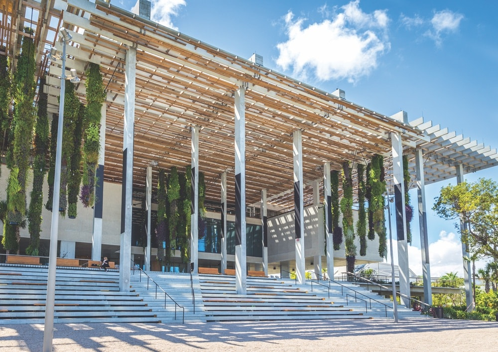 The stunning entrance to the Pérez Art Museum of Miami. Photo by mariakraynova / Shutterstock