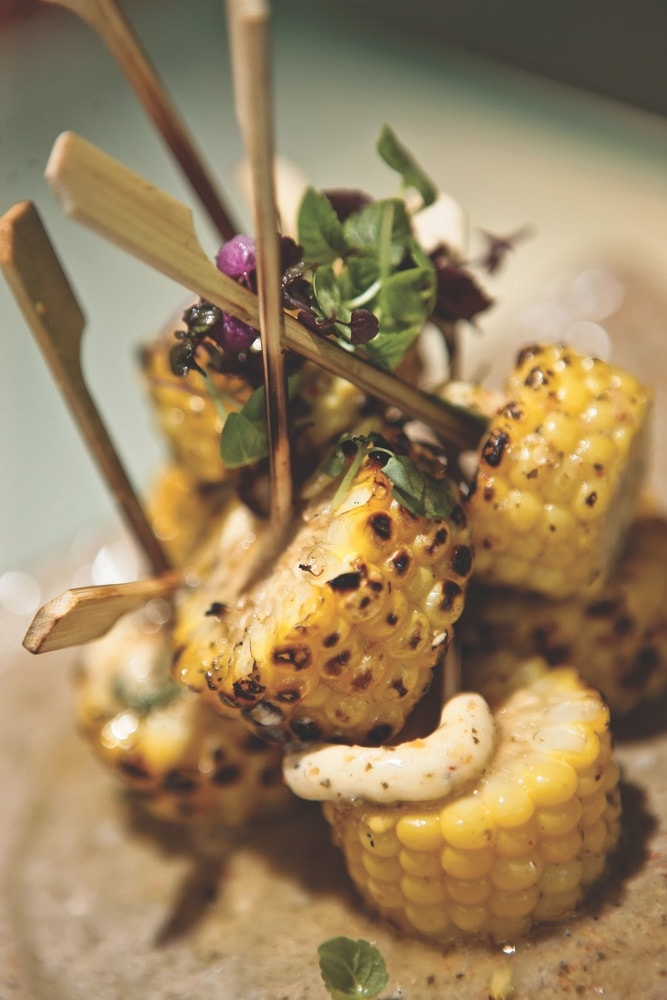 The sweet corn with shiso butter at Zuma is perfect for sharing. Photo courtesy of Zuma