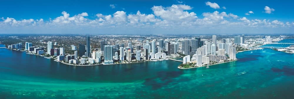 Aerial view of Downtown Miami Photo courtesy of Greater Miami Convention & Visitors Bureau
