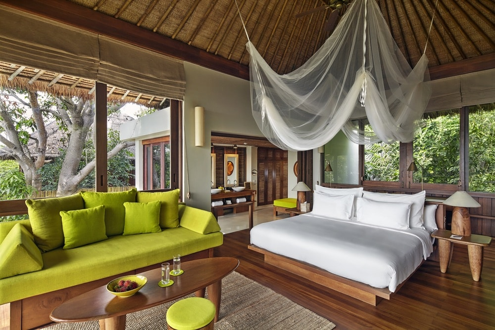 Sustainable Lifestyle in Thailand; Koh Samui; Six Senses Samui; guest suite; view
