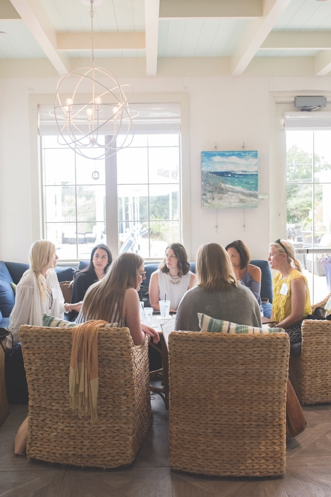 The retreat's offerings included a small-group mentor luncheon at The Southern C Retreat in Santa Rosa Beach, Florida