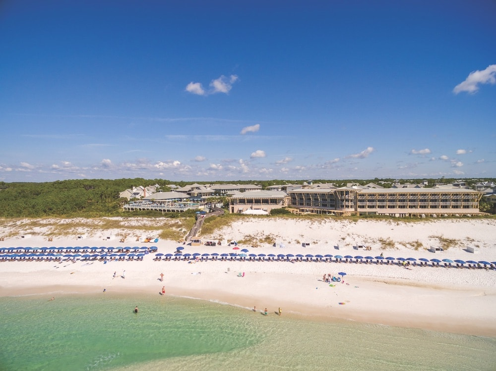The beautiful WaterColor Inn and Santa Rosa Beach, Florida. Photo courtesy of St. Joe Club & Resorts