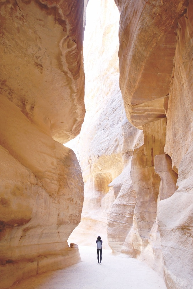 The journey through sandstone ravines to Jordan's ancient city of Petra culminates in a relaxing dinner with your travel companions. Photo by Kylie Chenn Acanela Expeditions