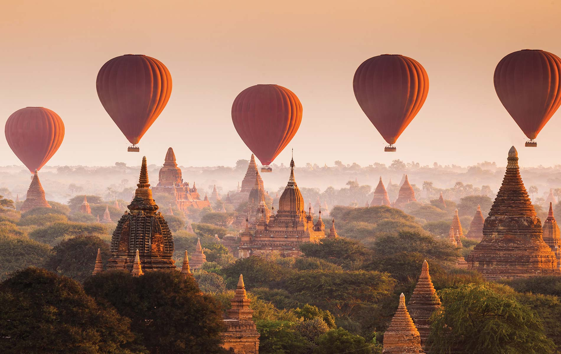Hot air balloons soaring over the ancient city of Bagan are a quintessential sight of Myanmar. See them for yourself on Acanela's Myanmar and Laos expedition.