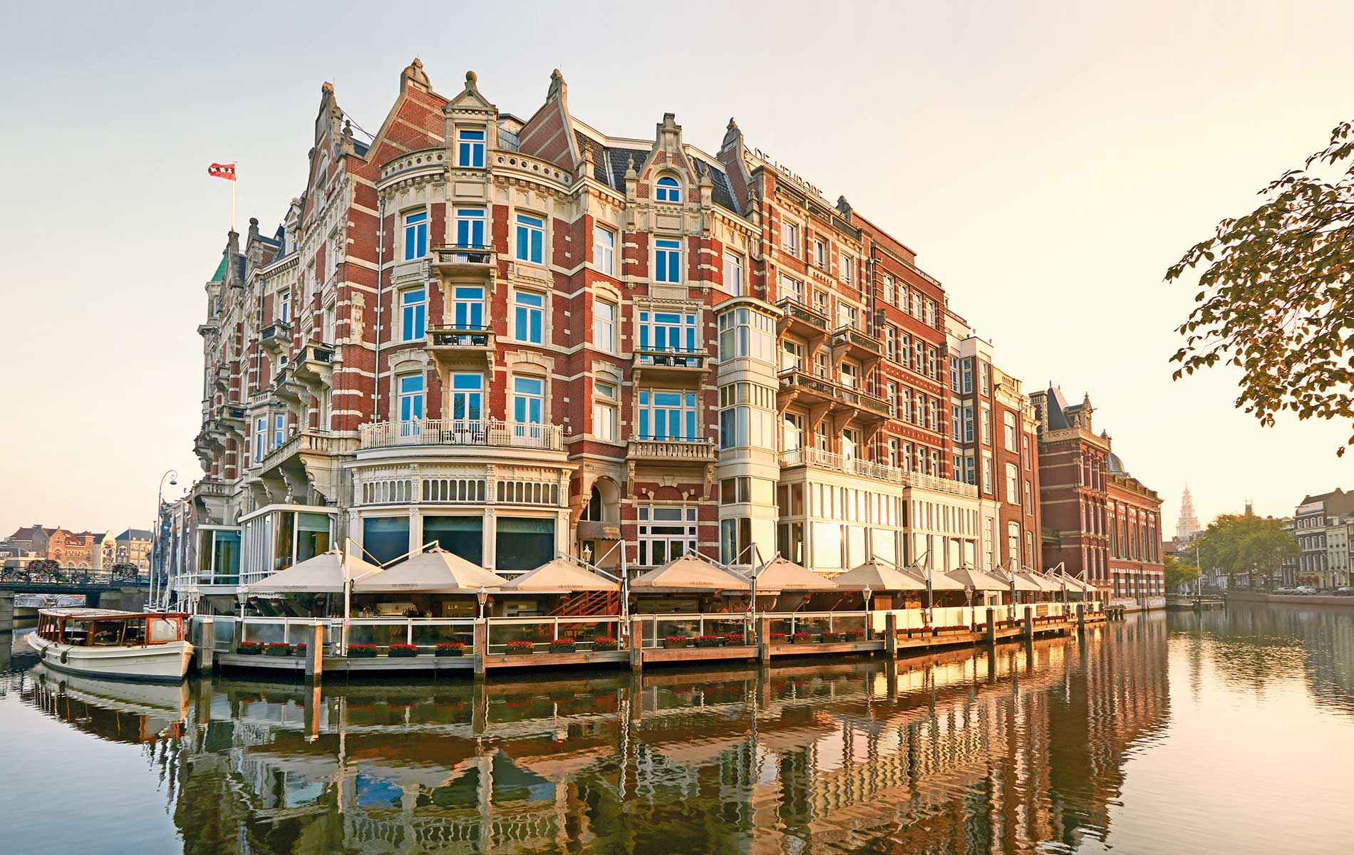 Exterior shot of De L'Europe Amsterdam Photo courtesy of De L'Europe Amsterdam VIE Magazine Destination Travel 2018
