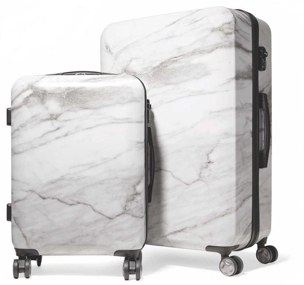 CALPAK Astyll Marbled Hard-Shell Suitcase Set VIE Magazine Destination Travel 2018